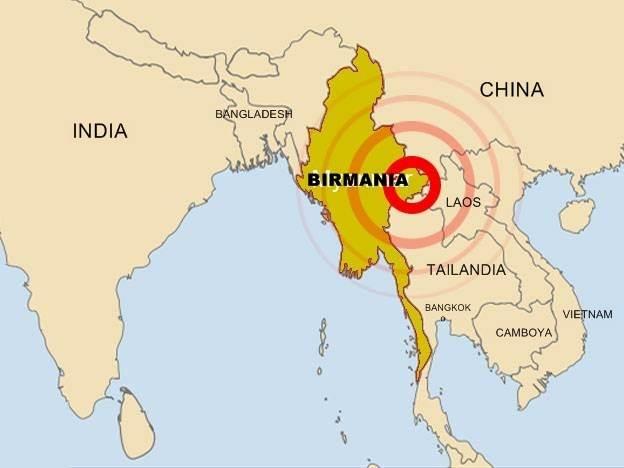mapa da birmania SEÍSMO EN BIRMANIA mapa da birmania