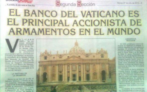 SILENCIO DEL PAPA Y ASUNTOS DE BANCA VATICANA